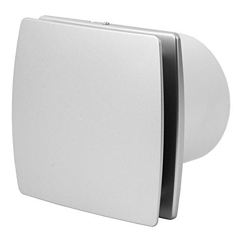 Baño de ventilador ventilador silencioso 100 mm plata con sensor de humedad y temporizador, t100hts: Amazon.es: Bricolaje y herramientas