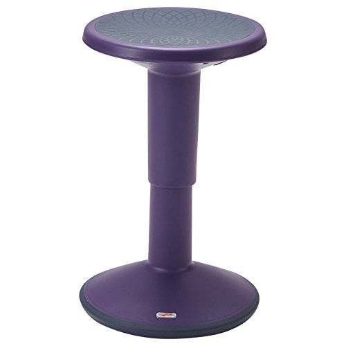 ECR4Kids SitWell Height-Adjustable Wobble Stool - Active Flexible Seating Chair for Kids and Adults - School and Office, Eggplant