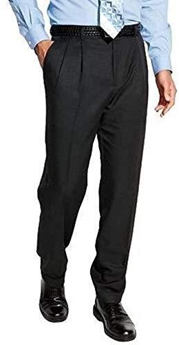 Croft & Barrow Mens Classic Fit Pleated Front Microfiber Expandable Waist Dress Pants, 38x32, Navy -