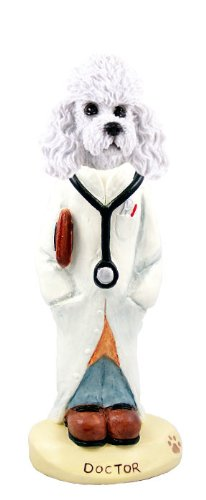 [Poodle White w/Sport Cut Doctor Doogie Collectable Figurine] (Dr Get Well Costumes)