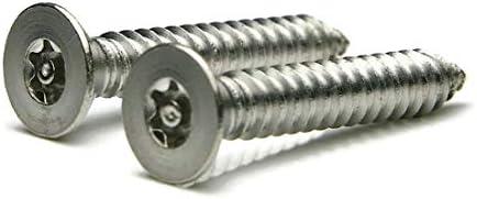 #10 x 1-1//4 Torx w//Pin Tamper Proof Security Flat Head Sheet Metal Screws 18-8 Stainless Steel T-25 Qty-25