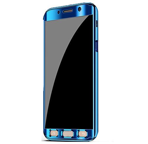 1 PC Anti Bleu Placage Coque Etui Choc en Ultra Telephone A7 2017 Galaxy Case Intgrale 360 Miroir Mince Housse Rayures Protection Anti Galaxy 2017 pour Samsung 2 Etanche A7 ITfXv