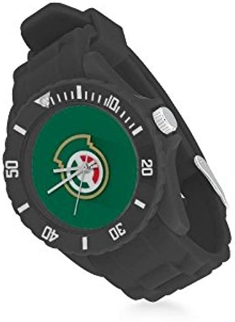 Reloj de Pulsera de Cuarzo con el Logo del Equipo de México Verde y Rojo, Correa de Goma, Reloj de Pulsera Casual Anolog: Amazon.es: Relojes