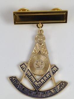 Past Masters Jewel (Jewel Masonic Past Master w/ Engravable Bar D1821)