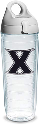 Tervis Xavier University Emblem Individual Water Bottle with Gray Lid, 24 oz, Clear ()
