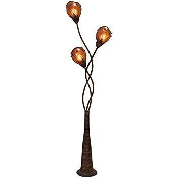 Ok Lighting Ok 9138 Flower Glass Shade Metal Floor Lamp 70 Inch Bronze Finish Amazon Com
