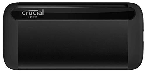 Crucial CT2000X8SSD9 X8 2 TB SSD portátil – de hasta 1050 MB/s – USB 3.2 – Unidad de estado sólido externa USB-C, USB-A
