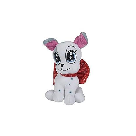 Nicotoy/kitchoun – Doudou Disney peluche Glamour el dálmata blanco lazo rojo 17 cms –