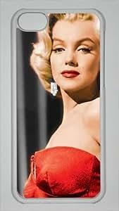 DIY Hard Shell Transparent iphone 5C Case America Actress Marilyn Monroe