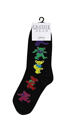 Grateful Dead Ladies Dancing Bear Socks Black by AIM