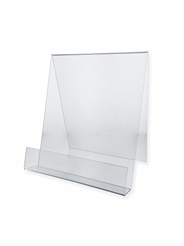 Marketing Holders Set of 10, Clear Acrylic Tabletop Easel for Countertop Use