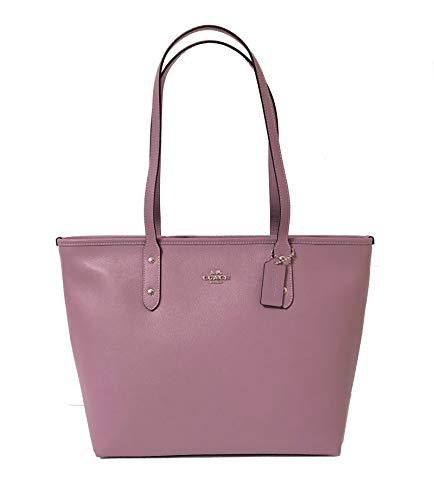 Coach Cross Grain Leather City Zip Tote Bag Purse - Tote City Bag