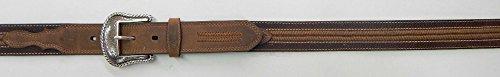 (Roper Men's Leather Belt Brown 46)