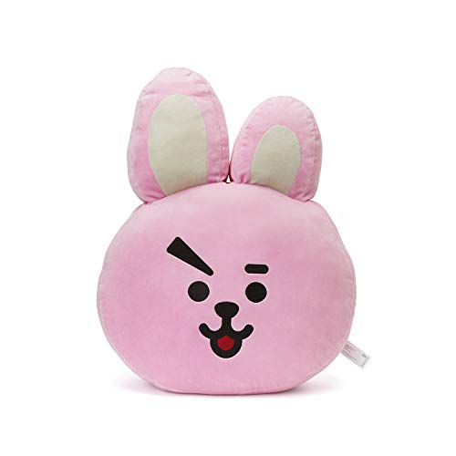 LINE FRIENDS BT21 Official Merchandise Cooky Smile Decorative Throw Pillows Cushion, 11 Inch