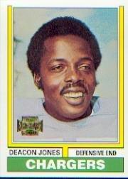 2001 Topps Archives Football Card #154 Deacon Jones 2001 Topps Archives Football