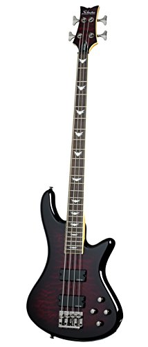 Guitar Diamond Series - Schecter Stiletto Extreme-4 Bass Guitar (4 String, Black Cherry)