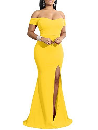 Top 10 best formal yellow dresses for women evening 2020