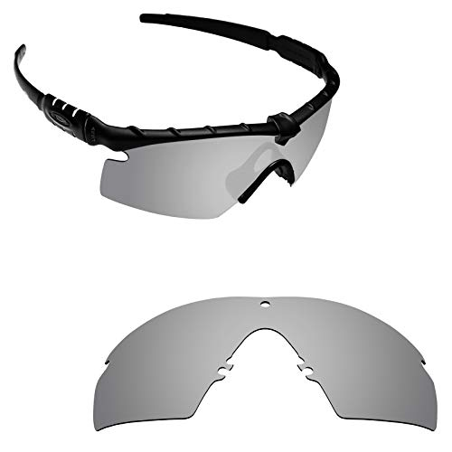 Alphax Silver Titanium Polarized Replacement Lenses for Oakley Si M Frame 2.0