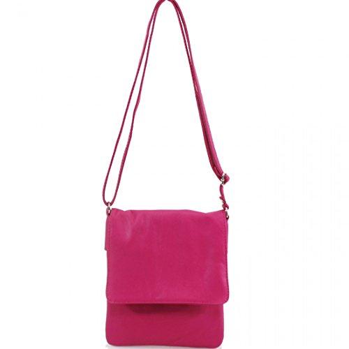 Pele Bags Soft Ladies Cross Small Girls Bags Linen Leather Galaxy Fuchsia Vera Italian Women Body Shoulder w1nqp