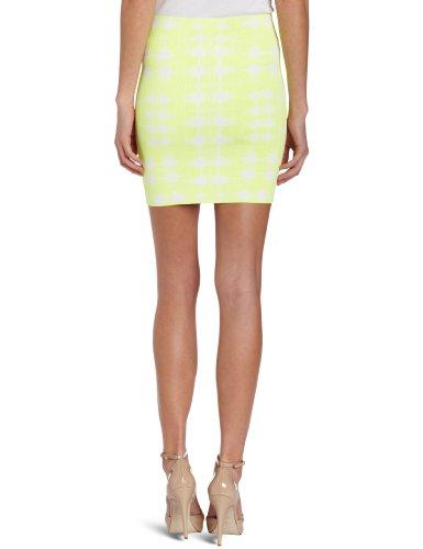 BCBGMAXAZRIA - Falda para mujer Amarillo (Neon Ylw C)