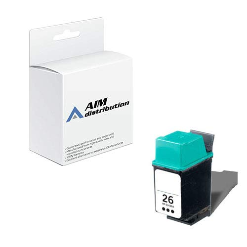 26 51626a Black Ink Cartridge - AIM Compatible Replacement for HP NO. 26 Inkjet (790 Page Yield) (51626A) - Generic