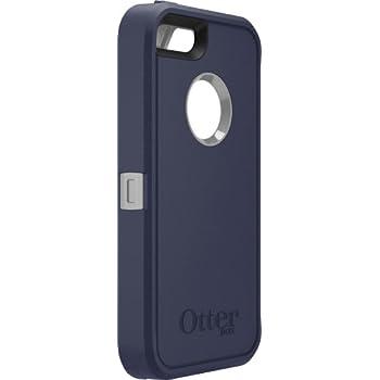 OtterBox 77-33326 Defender Series Case for Apple iPhone 5/5s/se - Retail  Packaging - Marine (Gunmetal Grey/Admiral Blue)