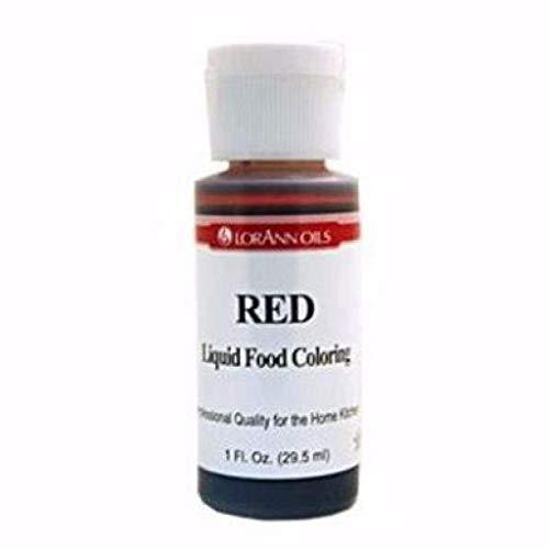 Liquid Food Color 1 Ounce Bottle/Pkg-Red