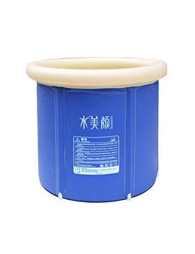 AXU Bañera Inflable Plegable PVC Plástico, Jacuzzi para Adultos portátil, SPA SPA Tub (Azul) (Tamaño : 65cmx70cmx75cm)