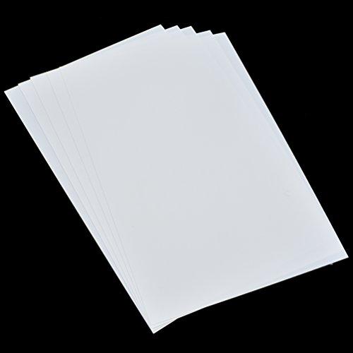 (Printable Heat Shrink Film DIY Magic Plastic Paper Sheets for DIY Crafts A4 5Pcs)
