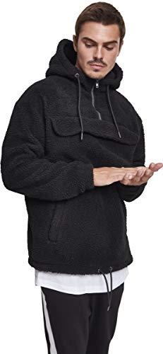 Capuche black Sherpa 00007 Hoodie shirt Noir À Sweat Pull Over Urban Classics Homme nPZqa58