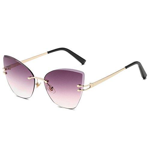 Aolvo Cateye de para y de Premium C5 Ligeras Sol de UV Mujer Sol degradadas C1 Sol de Metal Gafas Marco Gafas Gafas 400 Finas rtwxqAfrPn