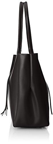 Élégant Nero italien la femme véritable à cuir de dans sac main 39x28x13 Noir CTM Cm d1w6Zd