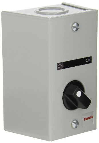Gray Selector Series - Siemens 50AA3C6 Surface Mount Enclosure, 2 Position Selector Switch,OFF-ON Labeled, 2 NO Contact Block