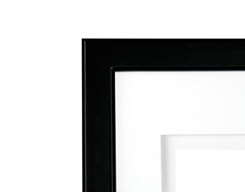 Gallery Solutions Black Airfloat Gallery Frame With Mat