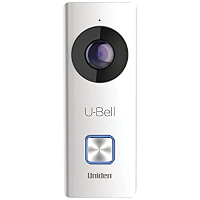 Uniden U-Bell WiFi Video Doorbell, 4 color faceplates (DB1)