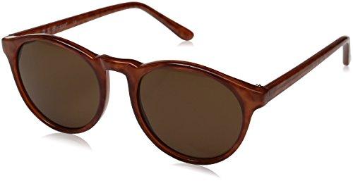 Brown Round Sunglasses - A.J. Morgan Grad School Round Sunglasses, Light Tortoise, 48 mm