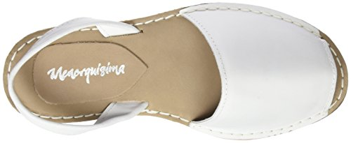 Menorquísima 87186700, Sandalias con Plataforma Plana para Mujer Blanco (White)