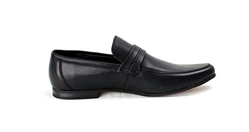 Zapatillas de estar Por Casa Para Hombre Italian Mocasines Inteligentes Diseñador Mocasin Trabajo Casual Talla Negro