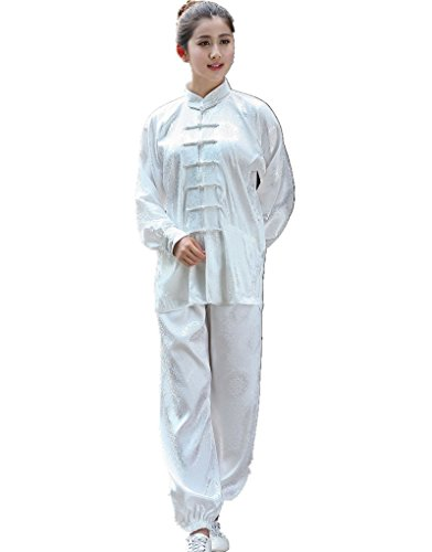Shanghai Story Martial Arts Women's Tai Chi Uniform Silk Kung Fu Suit L 11 (Silk Kung Fu Shirt)