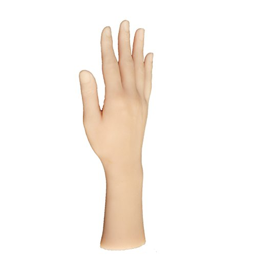 Silicone Life size Female hand Mannequin Dummy arbitrarily-bent/posed/soft Jewelery Ring Glove Bracelet Display Fetish woman hand (Right hand) by ZKF