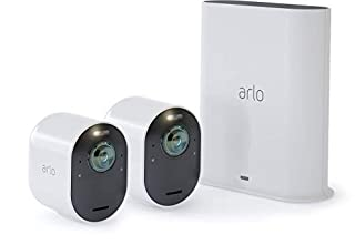 Arlo Ultra - 4K UHD Wire-Free Security 2 Camera System | Indoor/Outdoor Security Cameras with Color Night Vision, 180° View, 2-Way Audio, Spotlight, Siren | Works with Alexa | (VMS5240) (B07JJJSMCM) | Amazon price tracker / tracking, Amazon price history charts, Amazon price watches, Amazon price drop alerts