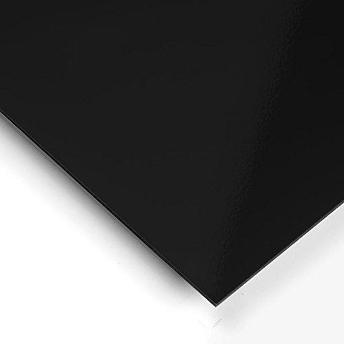 Metracrilato Plancha Din A4 Medidas 21cm x 29, 7cm Grueso 5mm Color negro Servicio Estación S.A