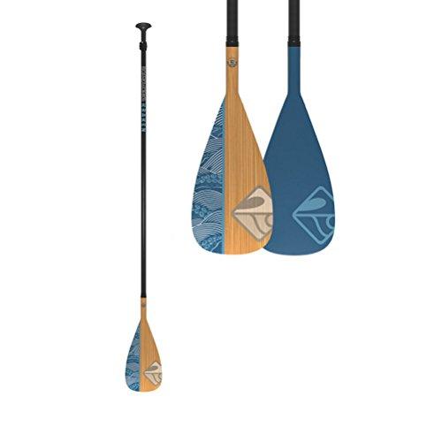 Boardworks Kraken 2 Piece SUP Stand Up Paddle Board Paddle | 90 Sq. in. Fiberglass Blade |Adjustable Carbon Fiber Shaft | 70-80 Inches