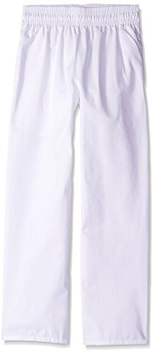 Uncommon Threads Unisex Classic Baggy Chef Pant with 3 inch Elastic Waist, White, Small by Uncommon Threads