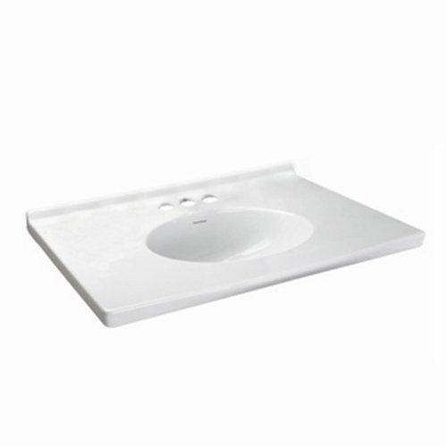 (American Standard 7820.800.020 Newbern Vanity Top With Integral Bowl, Fits Most Standard 30 Vanities, Seamless, White, 8-Inch)