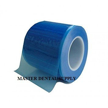 Dental Barrier Film BLUE 4' X 6'' Size 1200 Sheets Roll Style Dispenser Box. Ships from USA by MDS