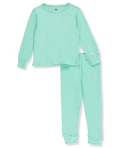 Ice2O Little Girls' Toddler 2-Piece Thermal Long Underwear Set - Mint, 3t (Girls Long Sleeved Thermal)