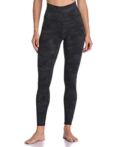 Colorfulkoala Women's High Waisted Pattern Leggings Full-Length Yoga Pants (S, Deep Grey Splinter Camo)