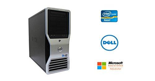 Dell Precision T7400 Intel Xeon 8 Core 3GHz 64GB RAM 4TB Hard Drive NVIDIA Dual GPU Quad Display DVDRW Windows 10 Pro 64-bit