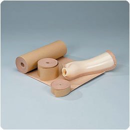 Rolyan Latex-Free Moleskin, 12'' x 5 Yards, Beige, Adhseive Backing Moleskin Padding for Use with Splints, Braces, and Casts, Non-Latex Roll of Prewrap, Undercast Wrap for Skin Protection and Support by Rolyan (Image #1)